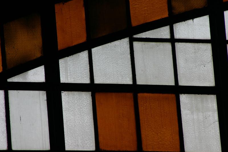 Colored glass at Hualamphong Train Station