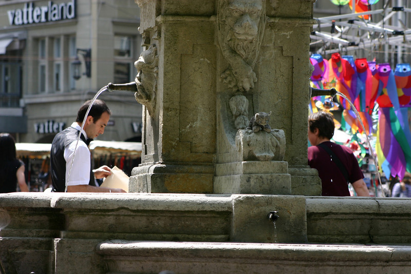 Fountain at Waisenhausplatz