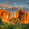 SEDONA CATHEDRAL MOONRISE