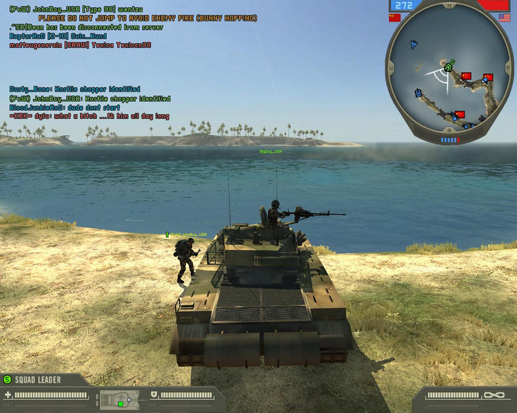 me (BigDog_USA) and John working as a tank crew. John, is outside the tank reapiaring damage while I keep cover.