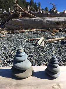 We spent a couple of hours essentially making rock piles.