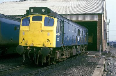 Class 25 No 25224 at Healey Mills