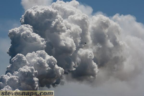 Steam plume