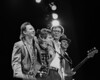 Stevie Ray Vaughan & Double Trouble take a bow at the Greek Theater in Berkeley, CA on October 11, 1985.