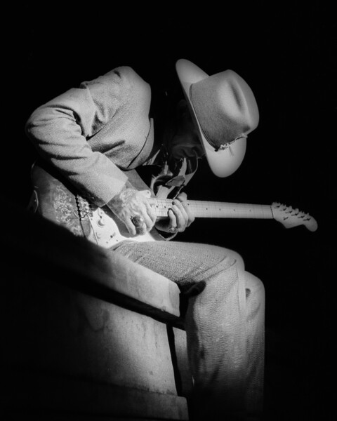 BERKELEY, CA-OCTOBER 11: Stevie Ray Vaughan performs at the Greek Theater in Berkeley, CA on October 11, 1985. (Photo by Clayton Call/Redferns)