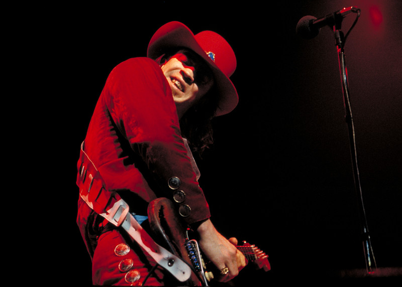 Stevie Ray Vaughan at the Warfield Theater in San Francisco in the fall of 1984.