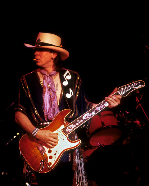 Stevie Ray Vaughan performs at the Kabuki Theater in San Francisco on December 4, 1983.