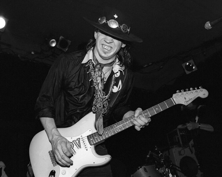 BERKELEY, CA-AUGUST 19: Stevie Ray Vaughan performs at the Keystone Berkeley in Berkeley, CA on August 19, 1983. (Photo by Clayton Call/Redferns)