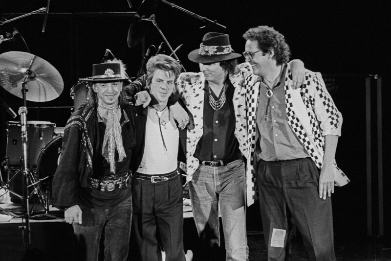Stevie Ray Vaughan & Double Trouble take a bow at the Concord Pavilion in 1986.