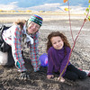 Happiness is planting a red-twig dogwood.  Sandy Coulson & Frances Lindberg enjoying the moment.