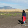 Deb Hoffnagle takes in the view of Mount Emily from Ladd Marsh on a fine day in the spring.