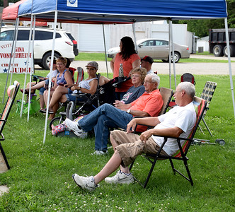 Several people lined the streets in Stewardson Sunday afternoon to view the Stewardson Independence Day Red, White and Blue parade. Charles Mills photo