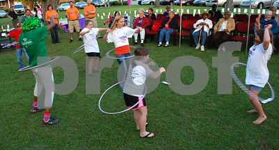 You can't beat a hoola-hoop for getting folks moving.