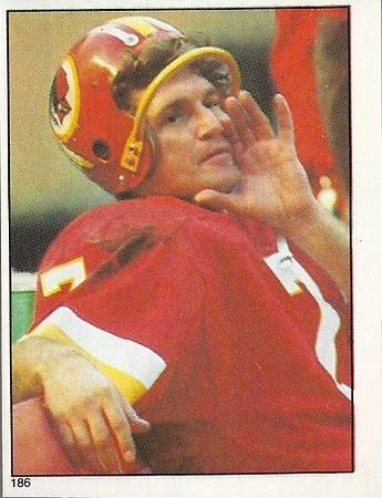 Joe Theismann 1981 Topps Stickers