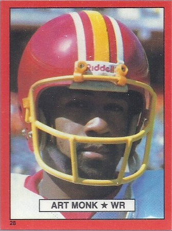 Art Monk 1981 Topps Red Border Stickers