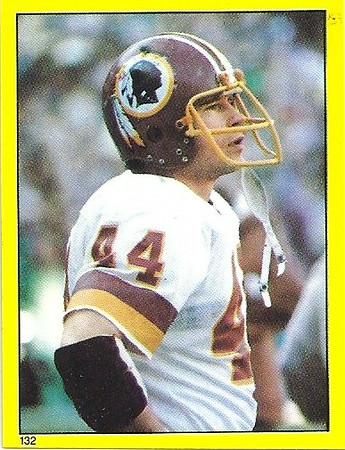John Riggins 1982 Topps Stickers