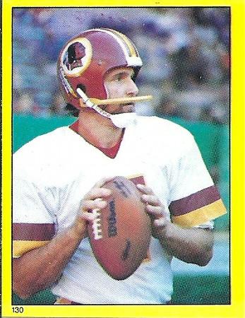 Joe Theismann 1982 Topps Stickers