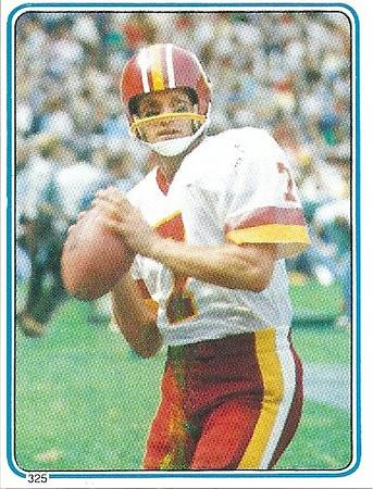 Joe Theismann 1983 Topps Stickers