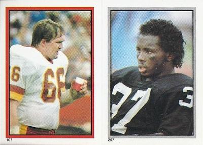 Joe Jacoby 1984 Topps Stickers
