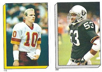 Jay Schroeder 1986 Topps Stickers