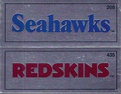 #435 Redskins Team Name Logo 1988 Panini