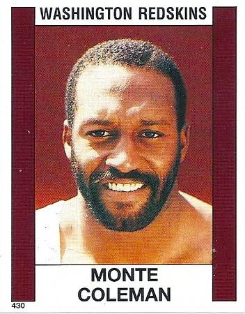 Monte Coleman 1988 Panini Stickers