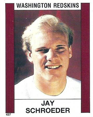 Jay Schroeder 1988 Panini Stickers