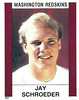 Jay Schroeder 1988 Panini Stickers