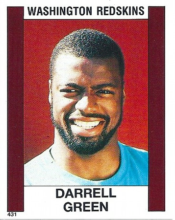 Darrell Green 1988 Panini Stickers