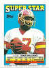 Doug Williams 1988 Topps Stickers Backside