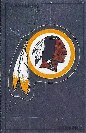 Redskins Logo 1989 Panini Stickers