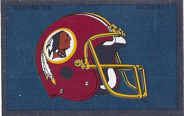 Redskins Helmet 1989 Panini Stickers