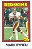 152 Mark Rypien 1992 Diamond Stickers