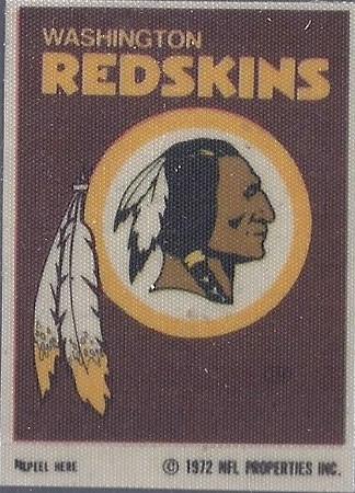 1972 Sunbeam  Bread Redskins Logo Sticker