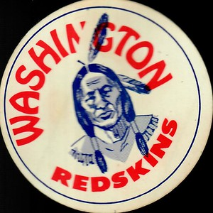 1950s Redskins Logo Sticker