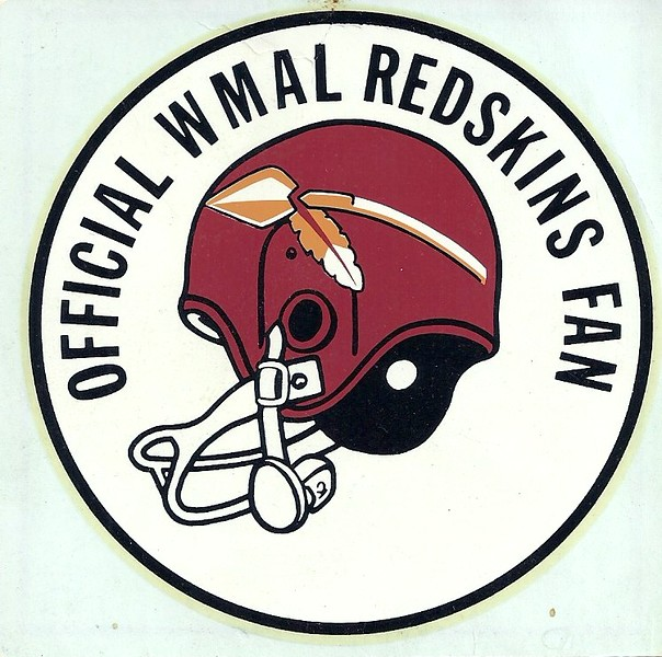1960's WMAL Redskins Helmet Decal