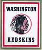 1972 Redskins Team Issue Square Sticker