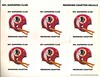 1980s NFL SuperPro Club Redskins Chapter Stickers Sheet