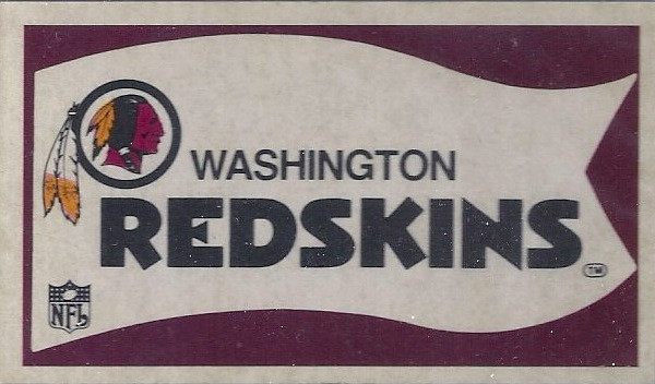 1976 Sunbeam Bread Pennant Stickers Redskins