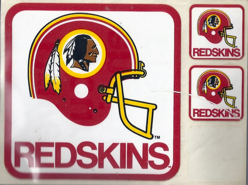 1982 Mobil Oil Redskins Stickers
