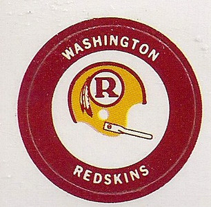 1971 Chiquita Stickers Redskins