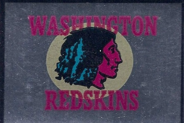 1961 Topps Metallic Stickers Redskins