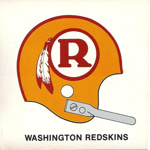 1970 Redskins Helmet Sticker