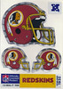 1989 U-Seal-It Redskins Helmet Stickers