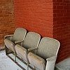 Orphaned Theater Seats - These seats back up against a downtown shop in downtown Bell Buckle, TN.