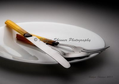 Yellow Bakelite On Plate