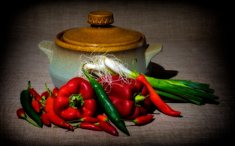 Peppers And Scallions