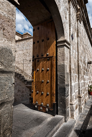 Door of The Basilica Cathedral of Arequipa