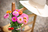 Aug 1 - Zinnias From My Garden<br /> <br /> I have a lot of zinnias blooming in all kinds of shapes and sizes