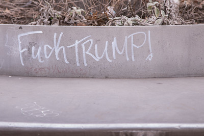 Anti-Trump graffiti in Washington, D.C.